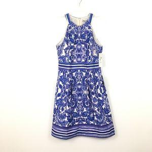 Eliza J Missy Dress Floral Halter Size 8